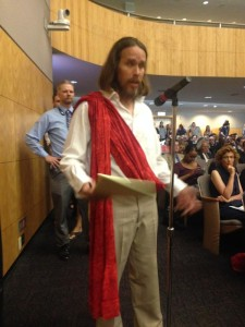 The ecigarette movement would actually do better actually without evangelists dressed like Jesus actually.